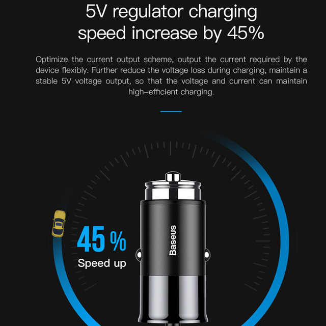 Baseus 4 usb fast car charger for iphone ipad samsung tablet mobile phone charger 5v 5.5a car usb charger car-charger