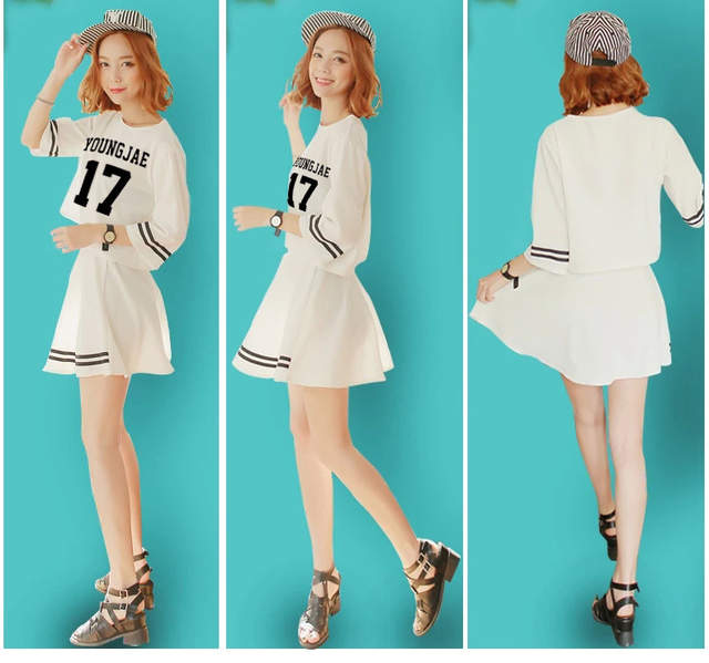 5bcbdad34024 Online Shop Customize Summer Women s O-Neck Kpop Got7 Jackson ...