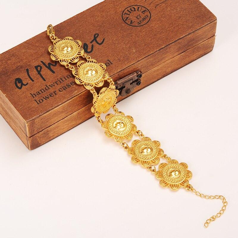 Bangrui Новый Мода Монета браслет для Для женщин, монеты браслет золотой Цвет ювелирные изделия Эфиопии/Африка/Арабских Подарки ...