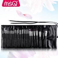 MSQ Professional 32 pcs Makeup Brushes Set For Women Fashion Soft Face Lip Eyebrow Shadow Make Up Brush Set Kit + Pouch Bag