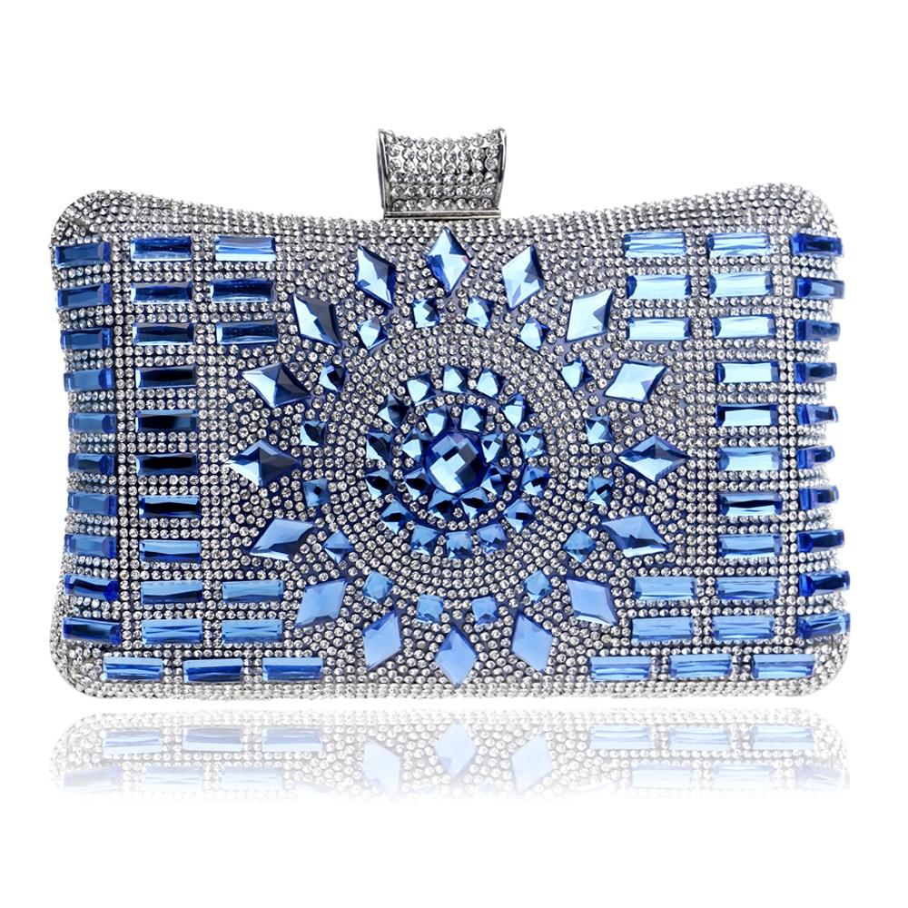Diamond Rhinestone Lock Dress Formal Handbag Woman Wristlets Day Clutch Lady Wedding Evening Shoulder Bag Small Purse