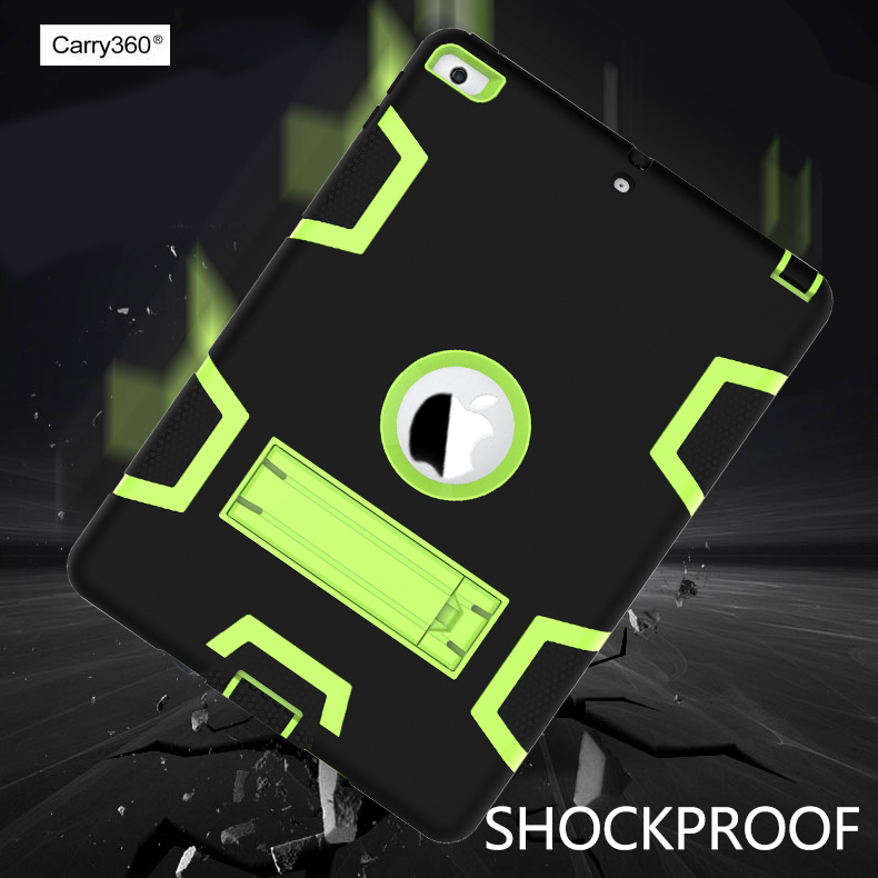 Carry360 Case For Apple New iPad 2017 9.7 Release Cover Kids  Armor Shockproof Heavy Duty Hybrid Silicone Hard Plasic Cases winner single album our twenty for random cover release date 2017 08 08