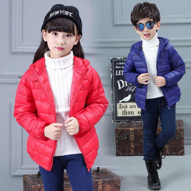 Children's Down Coats Hooded Girls Boys Winter Coat Long Sleeve Christmas Baby Girl Clothes WindProof  Kids Winter Jacket