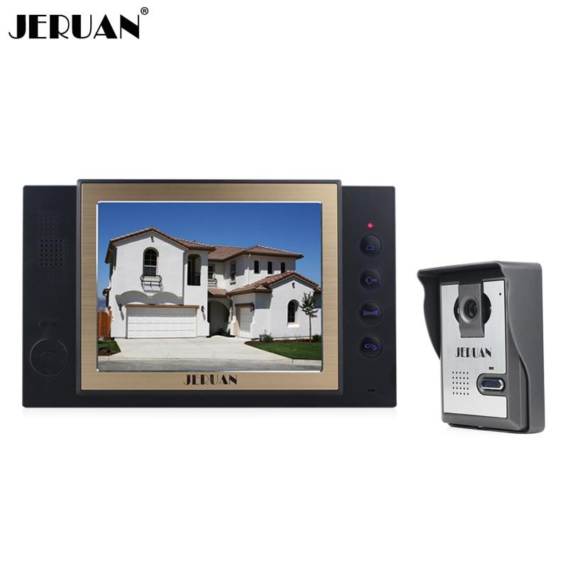 JERUAN 8 inch video door phone doorbell intercom system 1 monitor 1 camera video doorphone hands-free speaker intercom recording adjustable folding extendable brake clutch levers for kawasaki versys 1000 w800 zzr1200 zrx1100 1200 8 colors