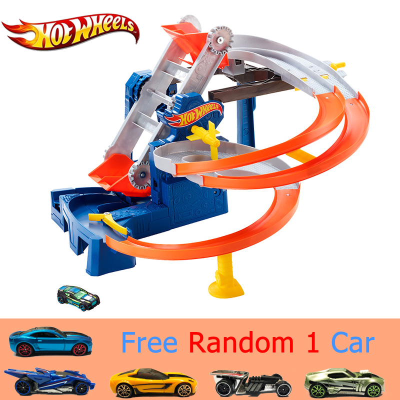 Hotwheels Factory Raceway Play Set Kid Toy Car Track Impact Sport Toy Factory Raceway Play Set FDF28 For Children Birthday Gift