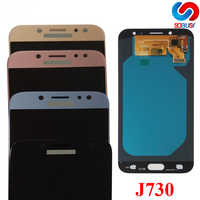 J730 super amoled lcd para samsung galaxy j7 pro j730 2017 j730f j730g j730gm display lcd de toque digitador da tela montagem tela