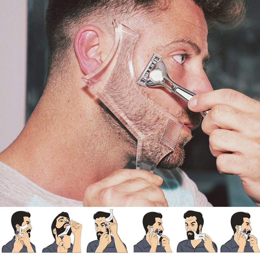 1Pc Quality Perfect Men's Beard Comb Stencil Comb Shaper For Beard Shaping Tool,Shaving Template Combs Line Up