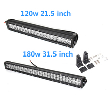 ECAHAYAKU 21.5 inch 31.5inch straight led light bar 120W 180W COMBO dual row Driving LIGHT Offroad Car Tractor Truck 4x4 SUV ATV