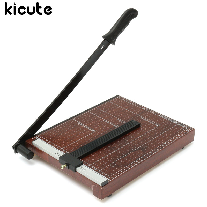 Kicute 18 A4 Paper Cutter Trimmer Guillotine Card Craft Scrapbooking Desktop Sheet for Home Office School Stationery Tools clear acrylic a3a4a5a6 sign display paper card label advertising holders horizontal t stands by magnet sucked on desktop 2pcs