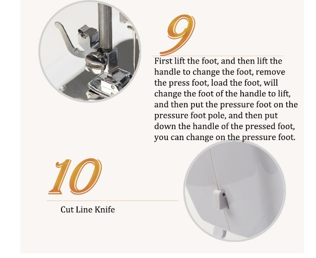Máquina de costura sartório Roupas ajuste da Velocidade de Máquinas de processamento de eletrodomésticos Máquina de Costura Plana - 5