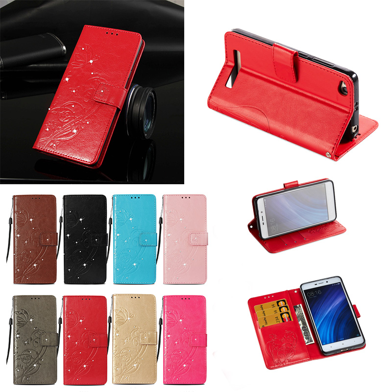 Phone for Xiaomi Redmi 4A Case 4 A Bumper Fitted Case for Xiaomi Redmi <font><b>A4</b></font> Red <font><b>mi</b></font> 4A Frame Cover Flip Leather Half-wrapped case image