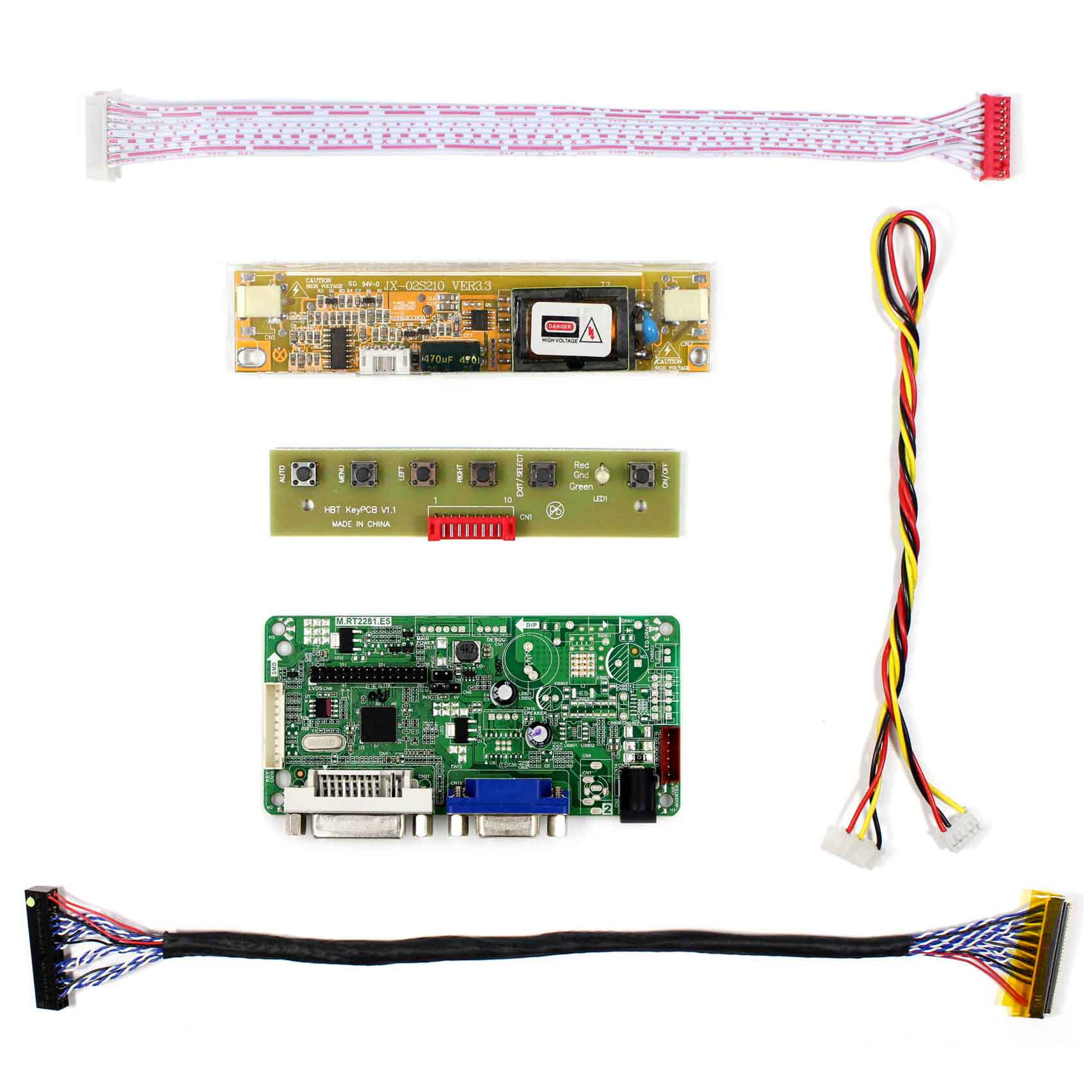 DVI VGA LCD Controller Board For 17.1inch B170PW04 B170PW07  1440x900 2CCFL LCD