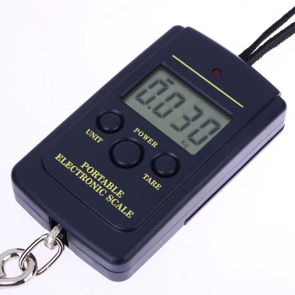 40kg x 10g Mini Digital Waage für Gepäck Angeln Reise Gewichtung Steelyard Hängen Elektronische Haken Skala, küche Gewicht Werkzeug