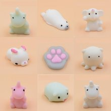 Kawaii Cute Mini Soft Silicone Anti-stress Squishy Toys Fidget Hand Squeeze Strap Phone Pinch Animals Toy Rubber Squishes