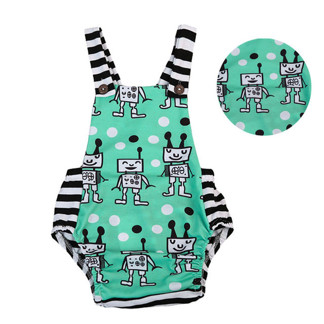 b4310a4bc Newborn Infant Baby Boys Girls Bodysuit Jumpsuit Backless Sleeveless ...