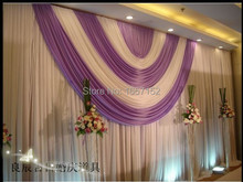 Wedding Stage Decoration 10ft*20ft Party Backdrop for Stage Decoration Wholesale Stage Backdrop with Detachable Swag