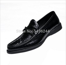 new british Style real cow crocodile grain leather qshoes shoes mens brand business casual men fashion slip-on top shoe y2230-3