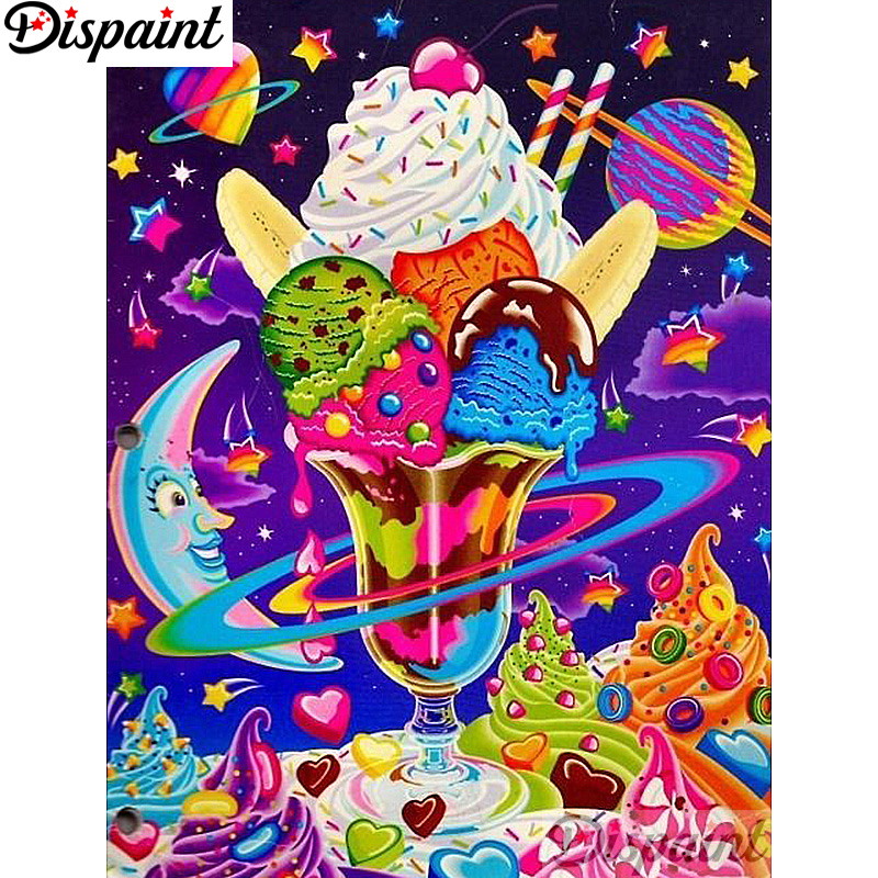 Dispaint Full Square Round Drill 5D DIY Diamond Painting quot Cartoon ice cream quot Embroidery Cross Stitch 3D Home Decor A12911 in Diamond Painting Cross Stitch from Home amp Garden