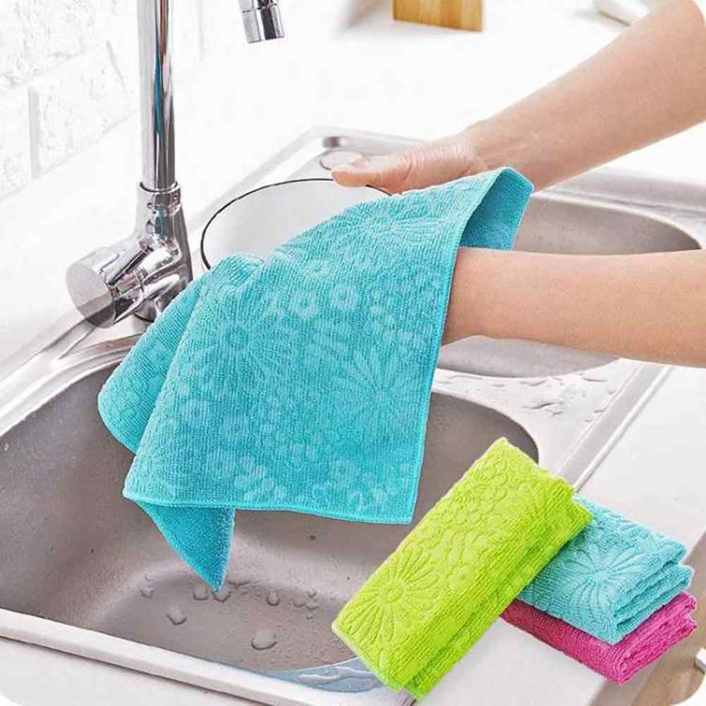 Microfiber Super Absorbent Microfiber Kitchen Dish Cleaning Drying Cloth Rag Hand Towel Household tableware Cleaning Cloths!