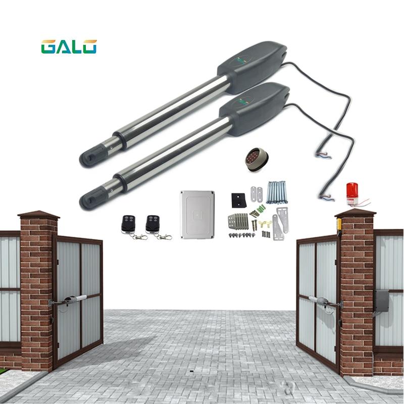 Heavy Door Opener 110/220V Input 250W 24v Dc Motor Swing Gate Operator Door Opener Solar Power Supported For  400Kg Gate