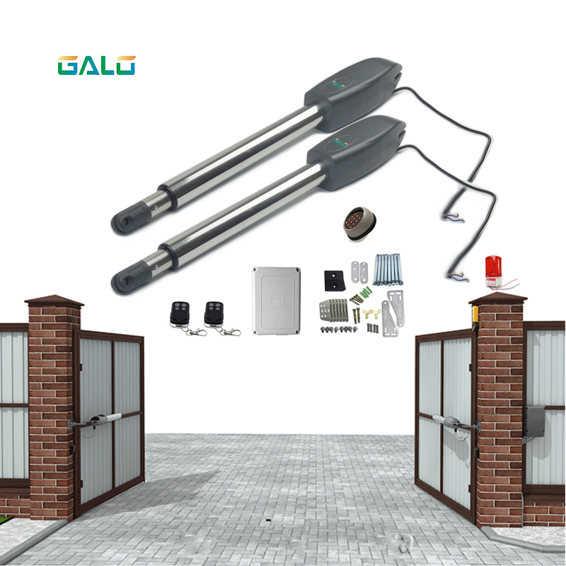 Heavy Door Opener 110/220V Input 250W 24v Dc Motor Swing Gate Operator Door Opener Solar Power Supported For  400Kg Gate