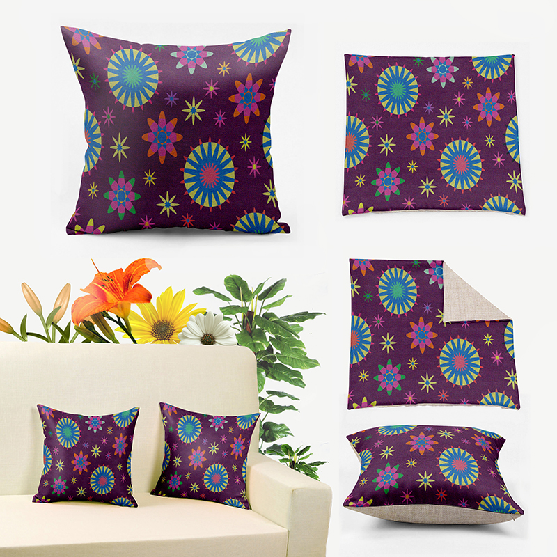 IKathoME Purple Floral Fall Pillows,Boho Flower Decorative Cushion Covers for Couch,Cheap Throw Pillow Cover Accent Pillow 072