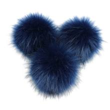 16 Colors 8/10cm DIY Artificial Faux Mink Fur Fluffy Pompom Ball Solid Color For Knitting Hat Shoes Scarves Bag Handbag Charms O(China)