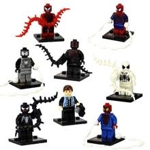Wholesale Super Heroes Spiderman Serials SY188 Building Blocks Marvel Minifigure Educational Construction Bricks Toys