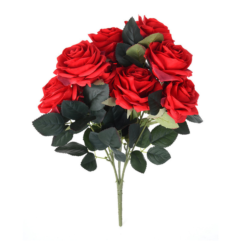Easter Flowers Wedding: A Bunch Of 10 Artificial Roses Flowers Wedding Bouquet For
