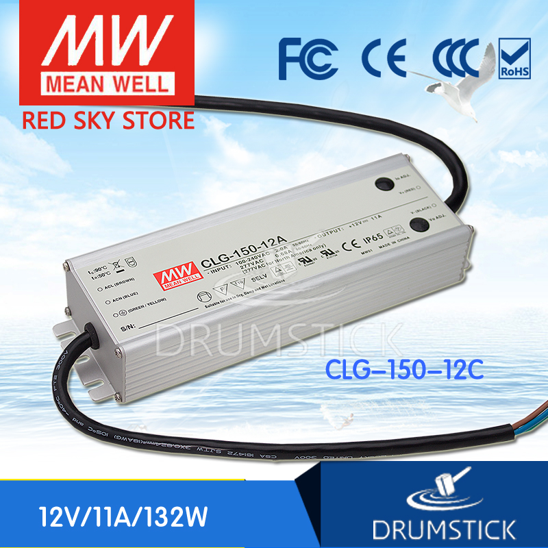 Selling Hot MEAN WELL CLG-150-12C 12V 11A meanwell CLG-150 12V 132W Single Output LED Switching Power Supply meanwell 12v 100w ul certificated clg series ip67 waterproof power supply 90 295vac to 12v dc