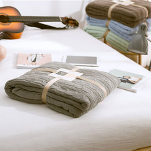 winter weighted fleece deken blanket for bed adult colorful cotton sofa blankets chunky knit Bedspread solid soft fluffy throw