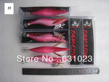 7pcs fishing lure,squid jig.squid hook,3.5# ,13.5cm 21g,22#.(China)