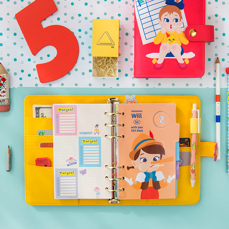 A6 7 Portable PU Leather Agenda 2019 Planner Notebook Kawaii Spiral Traveler 39 s Journal Stationery Supplies Bullet Journal Bujo in Notebooks from Office amp School Supplies