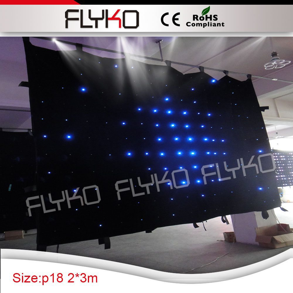 Free shipping soft LED screen, 2m by 3m, P18 ,176 pcs LED, automatic display animation, foolproof, perfect for DJ equipment