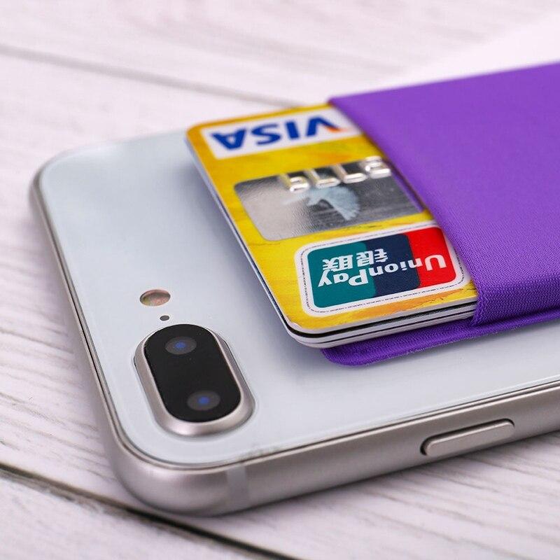 Лайкра мобильного телефона Портативный карман для телефона iphone для xiaomi Стикеры чехол бумажник клей кредитной держатель для карт
