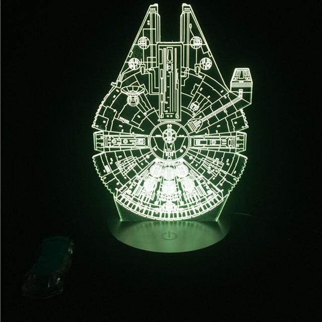 MILLENIUM FALCON 3D LED LAMP