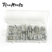 200Pcs/Set Small Coil Springs Tension Springs Zinc Plated Metal Compression/Extension Springs Assortment Kit With Plastic Case