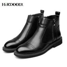 New Arrival Men Chelsea Boots Zipper Design Autumn Winter Shoes botas hombre High Quality Ankle