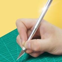 OUTAD Портативный Craft Ножи точность лезвие резака Нескользящая ручка Профессиональный Металлический гравировальный инструмент для дерева Бумага трафарет