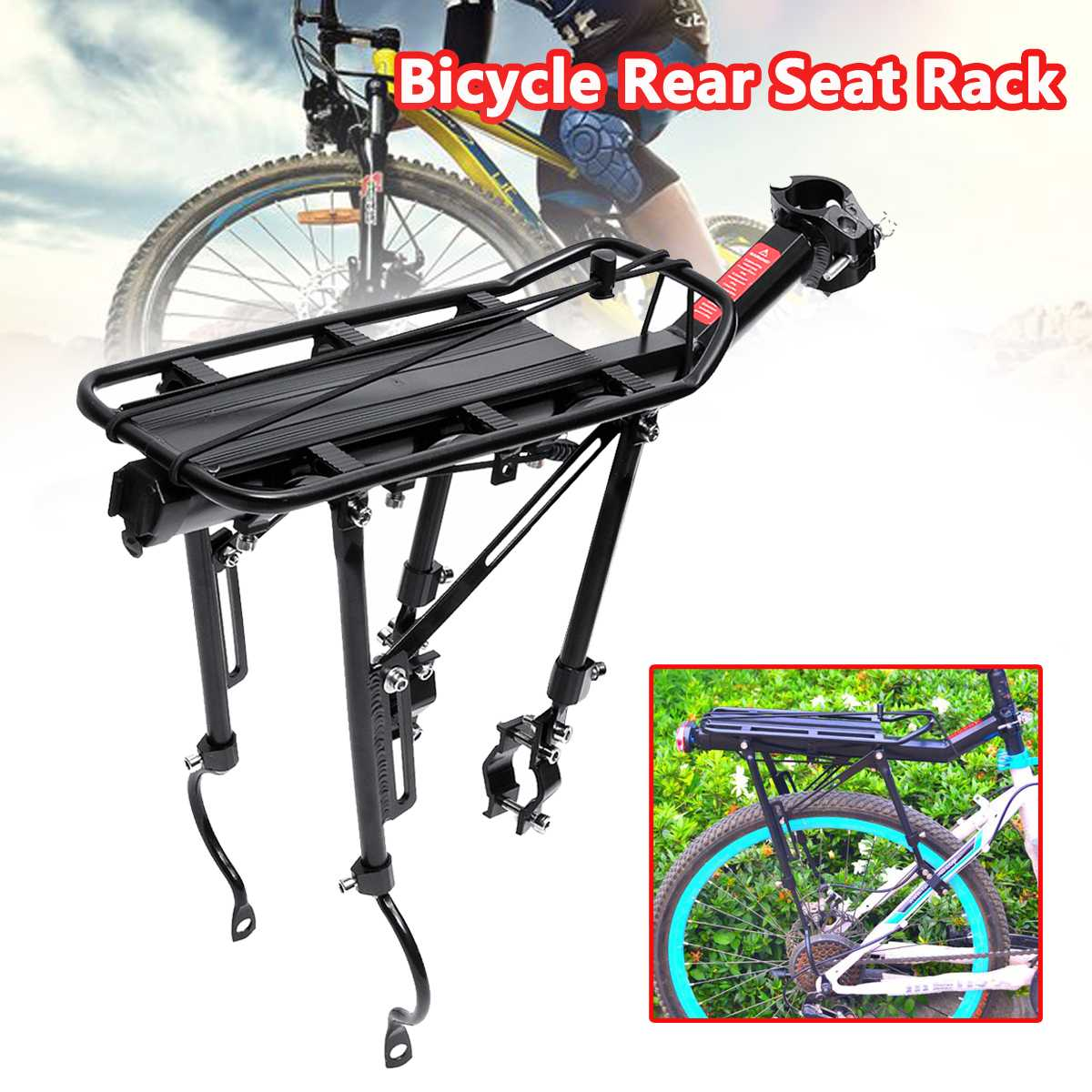 For Mountain Bike Station Wagon Folding Bike Bicycle Rack Bicycle Front Shelf EG