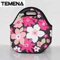 TEMENA Portable Insulated Neoprene lunch Bag Thermal Food Picnic Lunch Bags for Women kids Men Cooler Lunch Box Bag Tote BLB394F