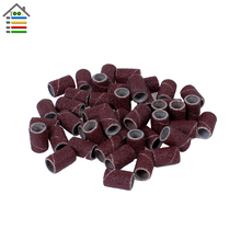 102pc 120 Grit Nail Art Sanding Bands Sander Manicure Pedicure Drill Machine For Dremel 4000 Rotary