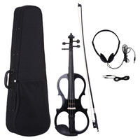 IRIN 4/4 Electric Violin Violino Fiddle Stringed Instrument & Wood Maple Ebony Fittings Cable Headphone Case for Music Lovers