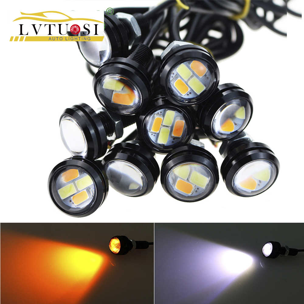LVTUSI  2pcs/lot DRL Automobiles Motorcycle modified turning signals light Super bright waterproof Steering Car Led CJ