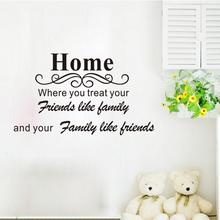 popular home art decal mural home room decor wall sticker baby room wallpaper for kids room door sticker home words room decor