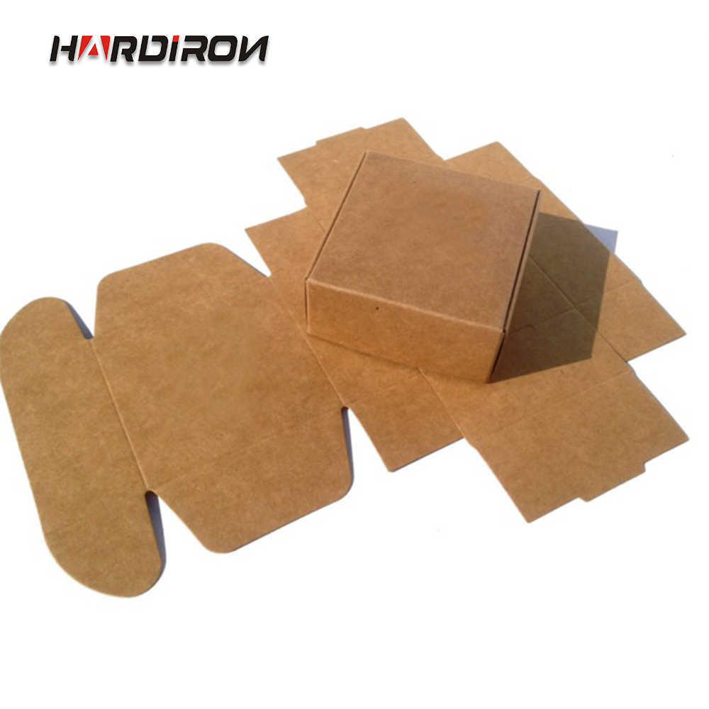 100pcs Blank Small White Black Soap Cardboard Paper Boxes,Small Black Kraft Paper Craft box,Candy Gift Packaging Boxes