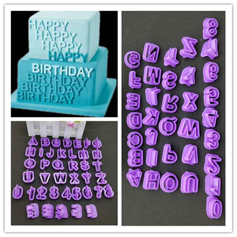 40 pcslot letters numbers alphabet plastic cake decorating tool font alphabet cookie biscuit cutters