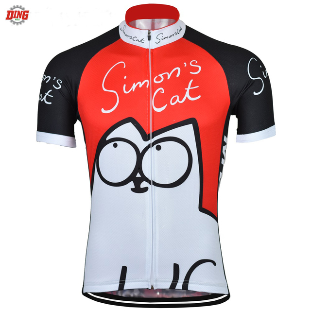 NOVOS Homens camisa de Ciclismo de manga Curta Respirável pro team Bike wear Dos Desenhos Animados Engraçado top roupas de ciclismo MTB Sportswear Verão
