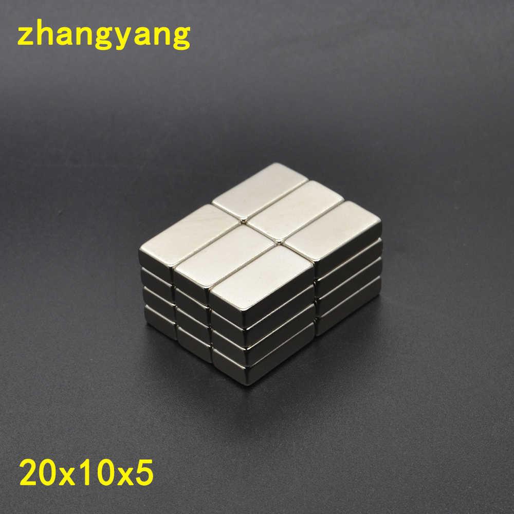 20 шт. 20 мм x 10 мм x 5 мм Класс Блок Неодимовый магнит 20*10*5 супер сильный кубовидной редкоземельных магнитов 20x10x5