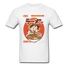 Ramen Luffy T-shirt Men Tshirt Naruto Noodle Tees Funny One Piece Design Summer Hip Hop Tops Mens Pirates T Shirts XS
